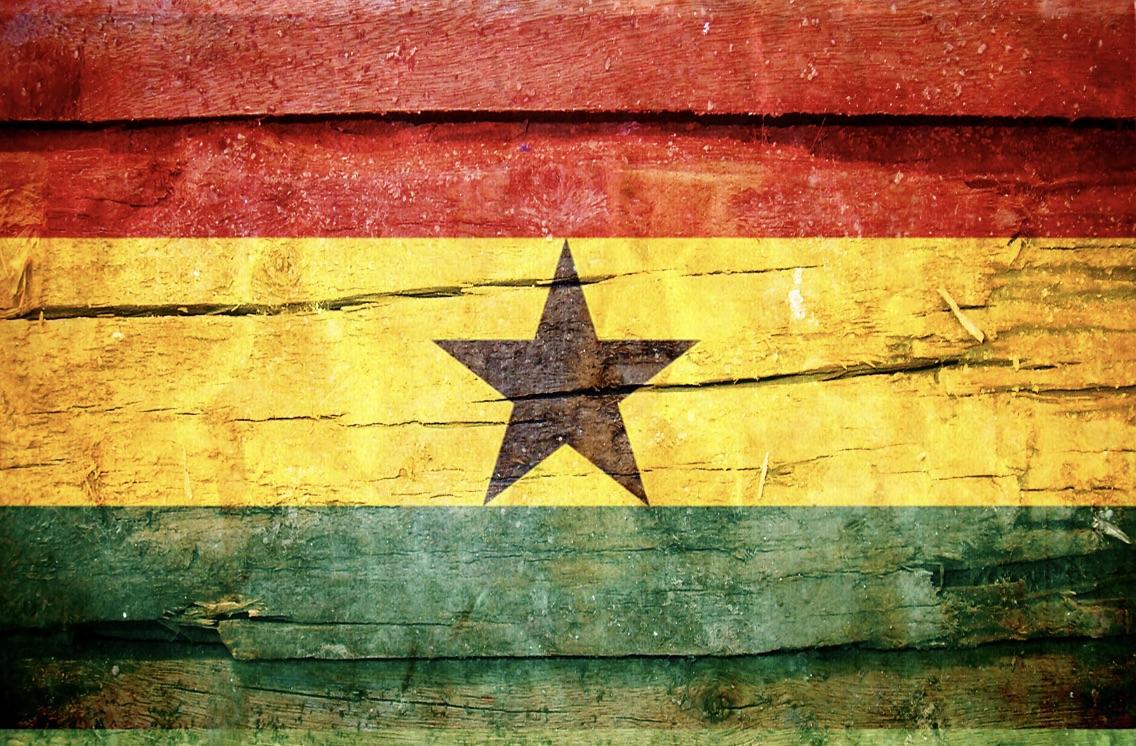 The Ghanian flag
