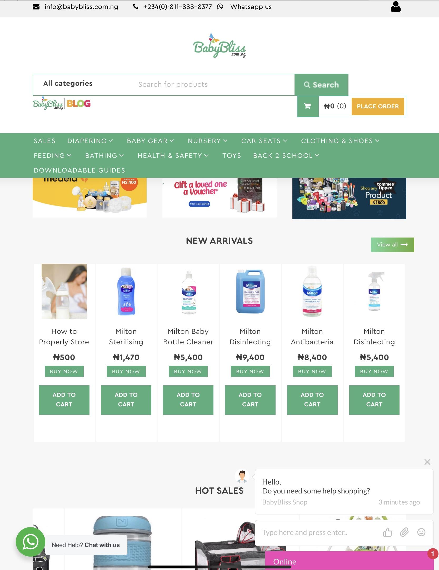 BabyBliss online store